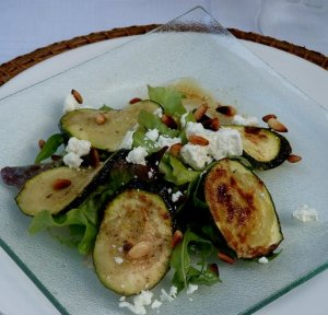 Courgette feta salad