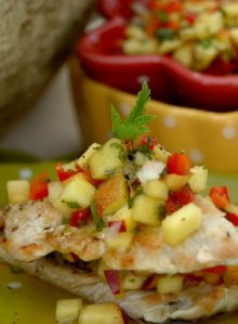 turkey escalopes with nectarine salsa