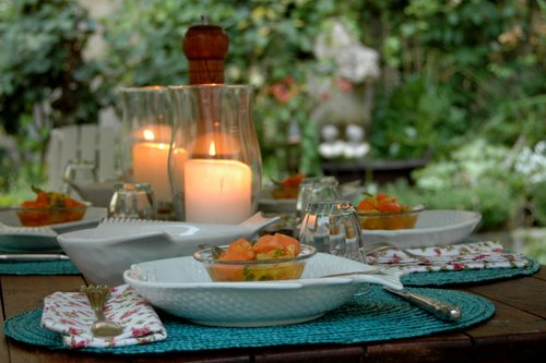 june dinner in the garden