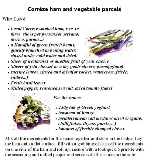 Corréze ham and veggie parcels 2