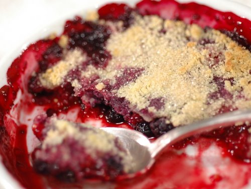 red berry crumble 2