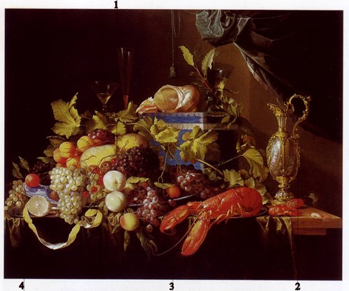 Nature morts avec des fruits et un homard - Jan Davidsz de Heem(1648-49)