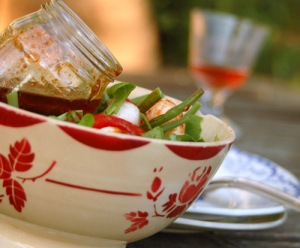 tomato, mozzarealla and bean salad-1