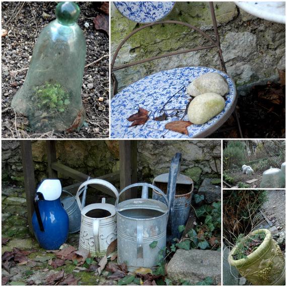 garden in February- delightful corners