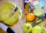 quince crumble collage