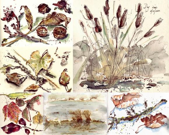 bron and beigez art collage