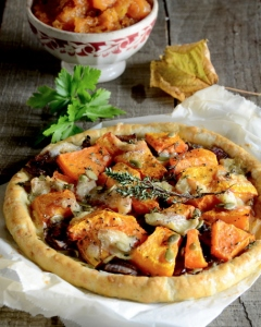 Rustic pumpkin tart with goatsq cheese 2