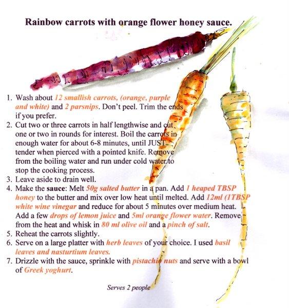 rainbow carrots recette