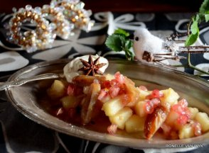 Apple, pear and date compote