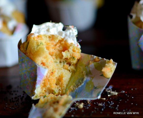 carrot and poppyseed cupcake eaten