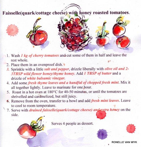 ffaiselle & honey tomatoes recip
