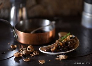 chestnuts, walnuts and prunes