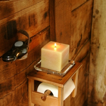 The beginning of barn life toilette. switch on the light!